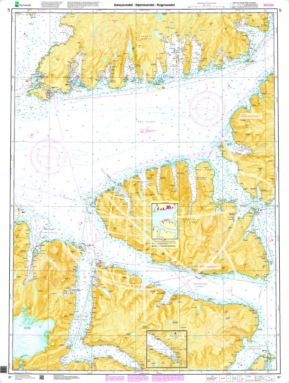 Norwegen N 97 Troms und Finmark mit Sørøysund, Stjernsund - Rognsundet