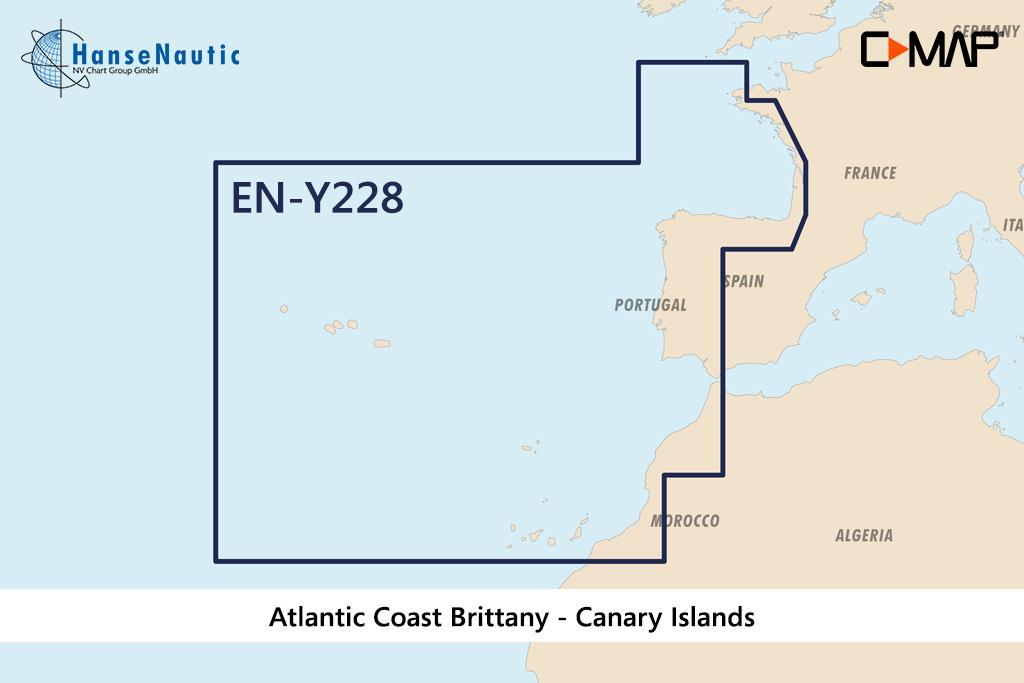 C-MAP Reveal Atlantikküste Bretagne-Kanaren (West European Coasts) EW-Y228