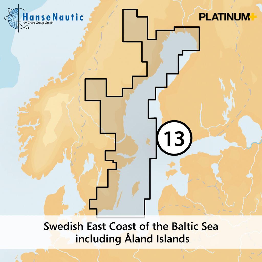 Navionics 13P+ SD Schweden