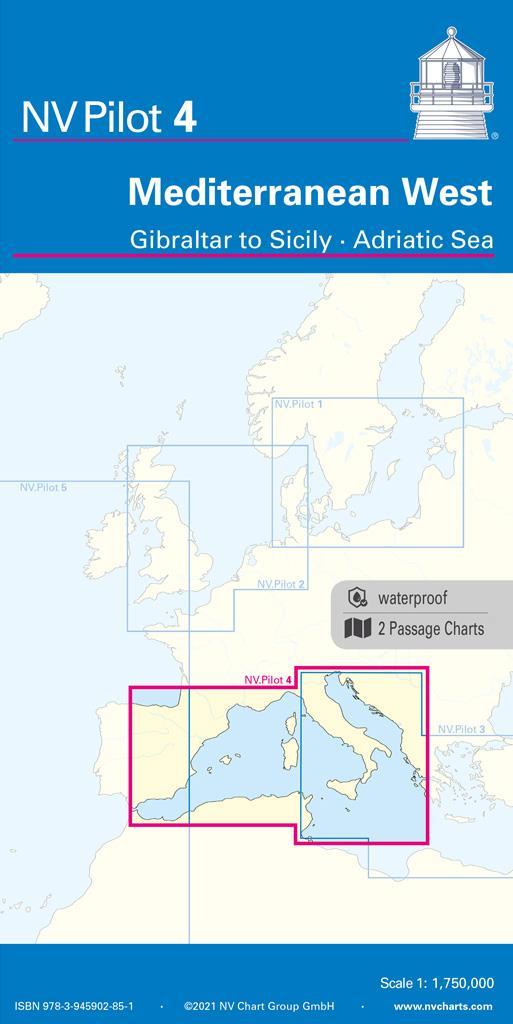 NV Pilot 4, Mediterranean West, Gibraltar to Sicily • Adriatic Sea