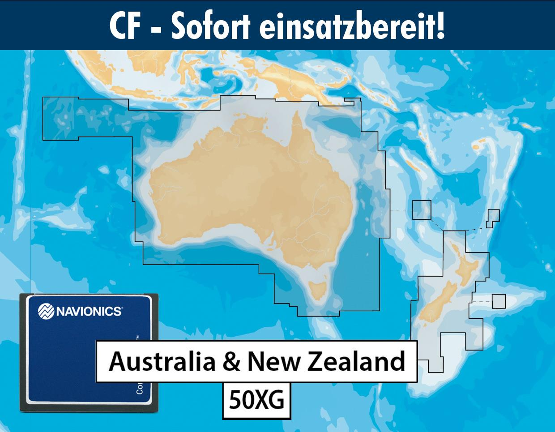 Navionics+ preloaded 50XG CF AUSTRALIA NEW ZEALAND